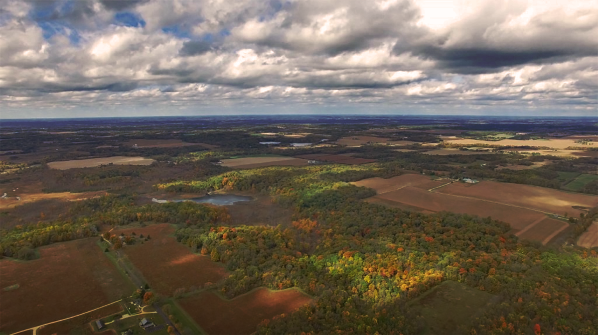 Aerial overview of Big Rock Valley