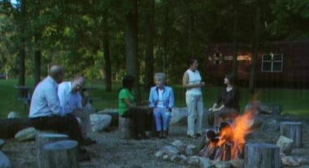 retreat campfire